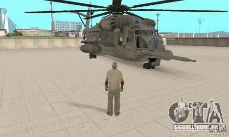 Sikorsky MH-53 para GTA San Andreas vista traseira