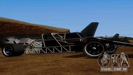 Virar para fora do carro de Furious 6 para GTA San Andreas traseira esquerda vista