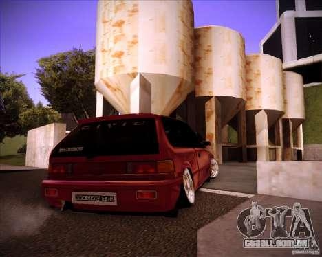 Honda Civic EF9 Hatch Stock para GTA San Andreas traseira esquerda vista
