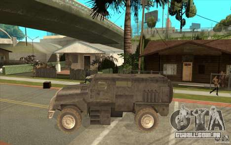 Military Truck para GTA San Andreas esquerda vista