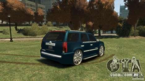 Cadillac Escalade Dub para GTA 4 esquerda vista