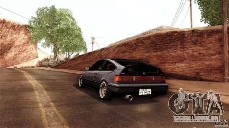Honda CRX JDM para GTA San Andreas vista traseira