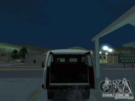 UAZ 451A para GTA San Andreas vista traseira