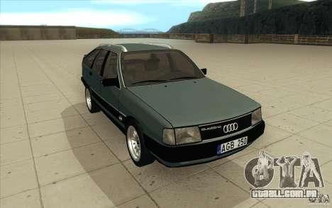 Audi 100 Avant Quattro para GTA San Andreas vista traseira