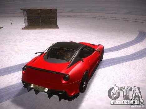 Ferrari 599XX para GTA San Andreas traseira esquerda vista