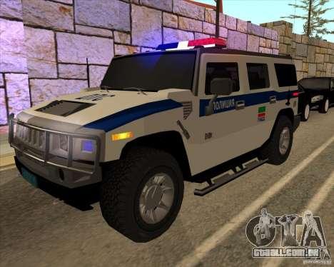 Hummer H2 DPS para vista lateral GTA San Andreas