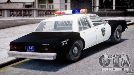 Chevrolet Impala Police 1983 [Final] para GTA 4 vista inferior