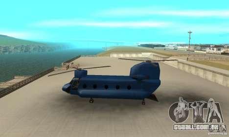 CH-47 Chinook ver 1.2 para GTA San Andreas esquerda vista