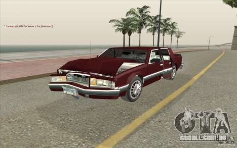 Chrysler Dynasty para GTA San Andreas vista interior