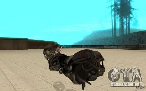 Bike predator para GTA San Andreas traseira esquerda vista