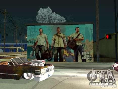 Cartaz de GTA V para GTA San Andreas segunda tela