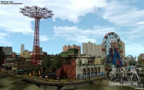 Telas de menu e inicialização de Liberty City em para GTA San Andreas por diante tela