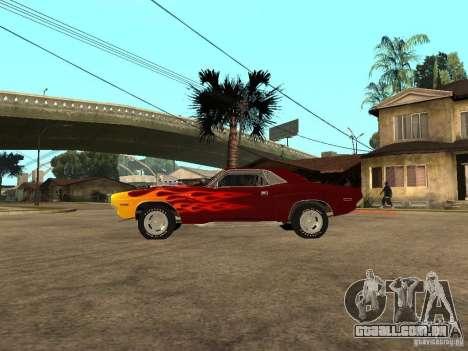 Dodge Challenger Tuning para GTA San Andreas esquerda vista