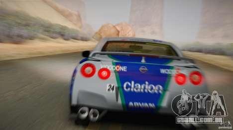 Nissan GTR R35 Tunable v2 para GTA San Andreas vista traseira