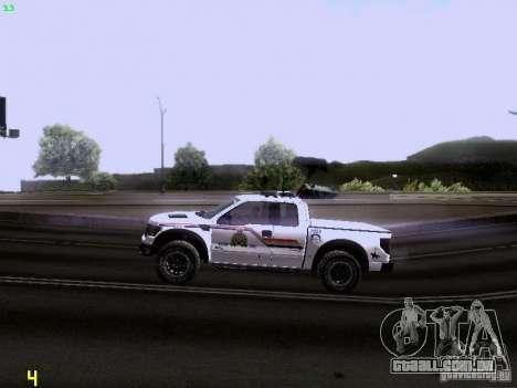 Ford Raptor Royal Canadian Mountain Police para GTA San Andreas vista interior
