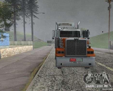 Western Star 4900EX v 0.1 para GTA San Andreas traseira esquerda vista