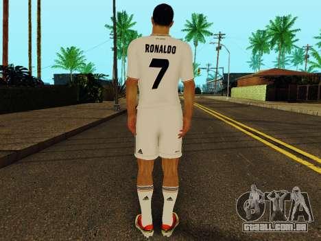 Cristiano Ronaldo v1 para GTA San Andreas por diante tela