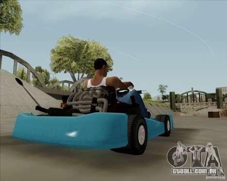 Kart para GTA San Andreas esquerda vista