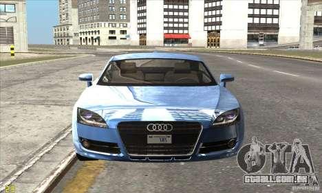 Audi TT 2006 para GTA San Andreas traseira esquerda vista