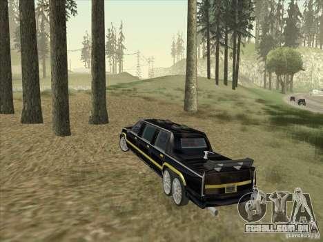 Limousine para GTA San Andreas vista direita