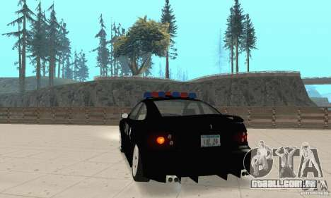 Pontiac GTO 2004 Cop para GTA San Andreas esquerda vista