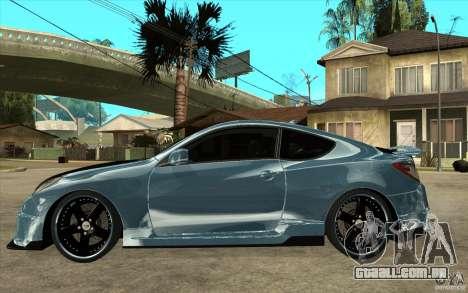 Hyundai Genesis Tuning para GTA San Andreas esquerda vista