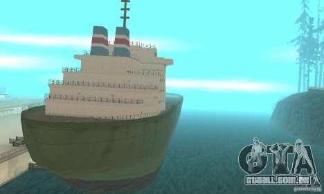 The G60 Ferry boat para GTA San Andreas esquerda vista