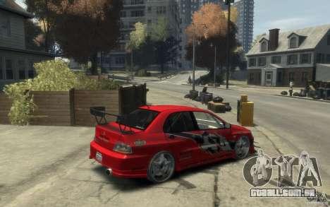 Mitsubishi Lancer para GTA 4 vista direita