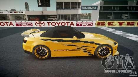 Calma Honda S2000 Tuning 2002 3 pele para GTA 4 vista superior