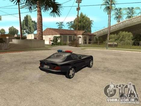 Dodge Viper Police para GTA San Andreas traseira esquerda vista