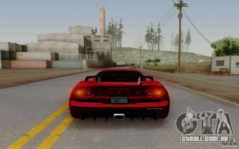 Lotus Exige S V1.0 2012 para GTA San Andreas traseira esquerda vista