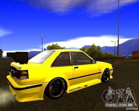GTA VI Futo GT custom para GTA San Andreas traseira esquerda vista