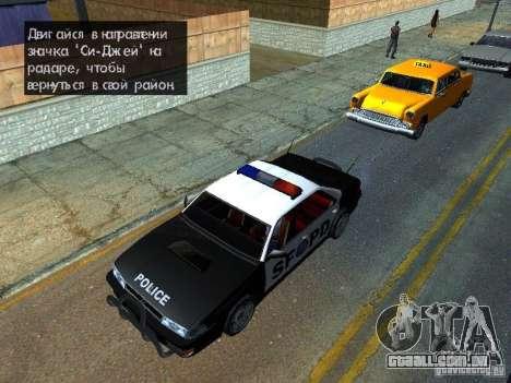 San-Fierro Sultan Copcar para GTA San Andreas vista direita