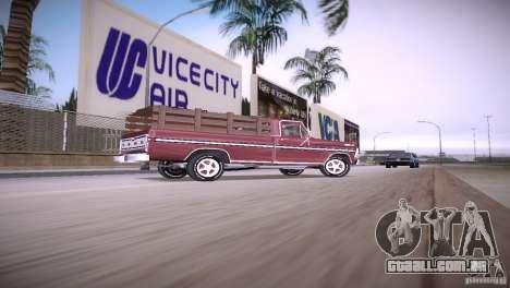 Ford F-100 1981 para GTA Vice City deixou vista