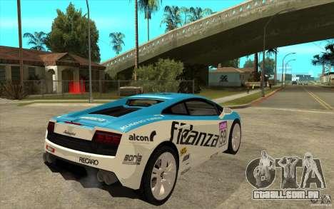 Lamborghini Gallardo LP560 para GTA San Andreas vista direita