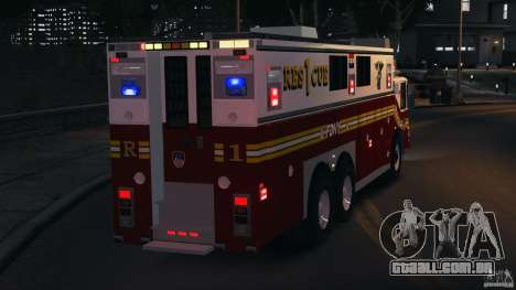 FDNY Rescue 1 [ELS] para GTA 4 vista inferior