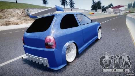 Chevrolet Corsa Extreme Revolution para GTA 4 traseira esquerda vista