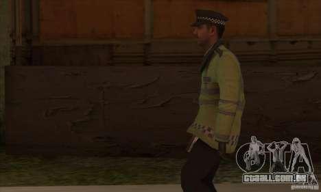 Uma nova polícia para GTA San Andreas por diante tela