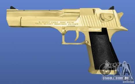Desert Eagle Retex 1.2 Gold para GTA 4 terceira tela