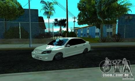 Lada 2190 Granta para GTA San Andreas esquerda vista
