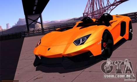 Lamborghini Aventador J para GTA San Andreas vista traseira