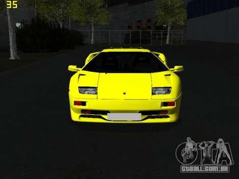 Lamborghini Diablo SV para GTA San Andreas vista direita