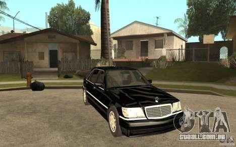 Mercedes-Benz S600 V12 W140 1998 V1.3 para GTA San Andreas vista traseira