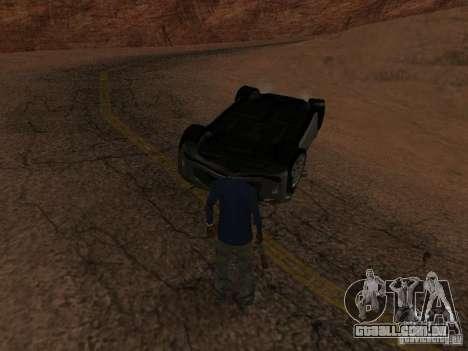Não queimam carros tombados para GTA San Andreas oitavo tela