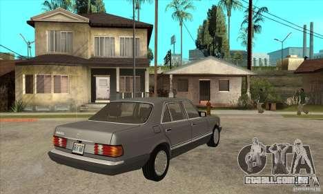 Mercedes Benz W126 560 v1.1 para GTA San Andreas vista direita