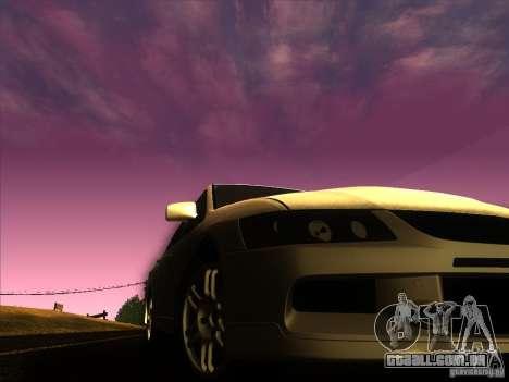 Mitsubishi Lancer Evolution IX MR para GTA San Andreas vista superior