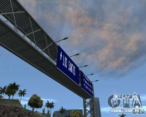 Estrada sinais v 1.1 para GTA San Andreas segunda tela