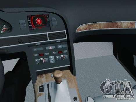 Audi A6 Police para vista lateral GTA San Andreas