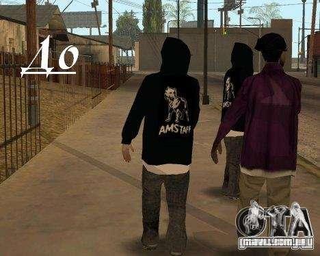 Roupas com Victor Coem para GTA San Andreas terceira tela
