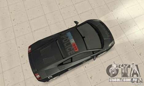 Lamborghini Gallardo Police para GTA San Andreas traseira esquerda vista